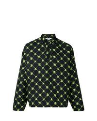 dunkelblaue bedruckte Shirtjacke von Sunnei