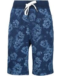 dunkelblaue bedruckte Shorts von Alex Mill