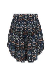 dunkelblaue bedruckte Shorts von Chloé