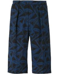 dunkelblaue bedruckte Shorts von Giorgio Armani