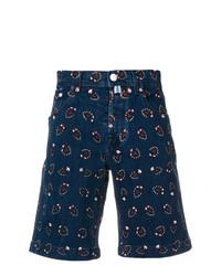 dunkelblaue bedruckte Shorts von Jacob Cohen