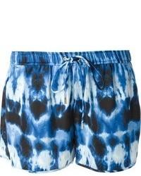 dunkelblaue bedruckte Shorts von MICHAEL Michael Kors