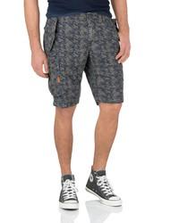 dunkelblaue bedruckte Shorts von NAGANO