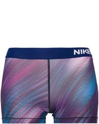 dunkelblaue bedruckte Shorts von Nike