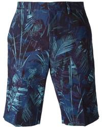 dunkelblaue bedruckte Shorts von Paul Smith
