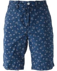 dunkelblaue bedruckte Shorts von Polo Ralph Lauren