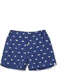 dunkelblaue bedruckte Shorts