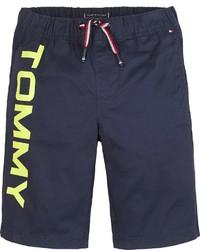 dunkelblaue bedruckte Shorts von Tommy Hilfiger