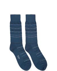 dunkelblaue bedruckte Socken von Paul Smith