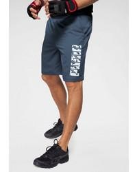 dunkelblaue bedruckte Sportshorts von Puma