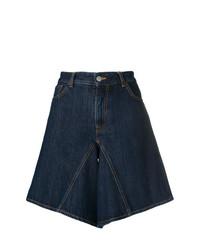 dunkelblaue Bermuda-Shorts aus Jeans von MM6 MAISON MARGIELA
