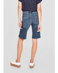 dunkelblaue Bermuda-Shorts aus Jeans von S.OLIVER RED LABEL