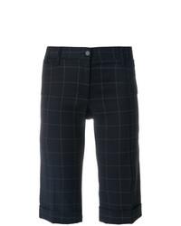 dunkelblaue Bermuda-Shorts mit Karomuster von Dolce & Gabbana Vintage