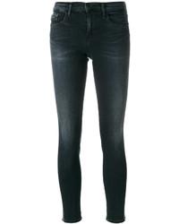 dunkelblaue bestickte Baumwolle enge Jeans von CK Calvin Klein