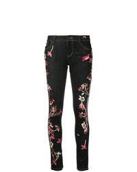 dunkelblaue bestickte enge Jeans von Alice + Olivia