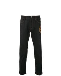 dunkelblaue bestickte Jeans von Dolce & Gabbana