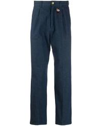 dunkelblaue bestickte Jeans von Gucci