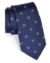 dunkelblaue bestickte Krawatte