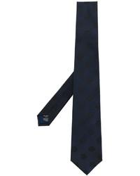 dunkelblaue bestickte Krawatte von Kenzo