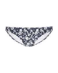 dunkelblaue Bikinihose mit Blumenmuster von Ralph Lauren
