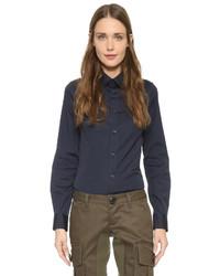 dunkelblaue Bluse mit Knöpfen von Dsquared2