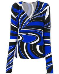dunkelblaue Bluse von Emilio Pucci