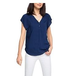 dunkelblaue Bluse von Esprit