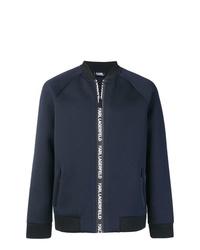 dunkelblaue Bomberjacke von Karl Lagerfeld