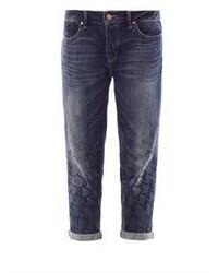 dunkelblaue Boyfriend Jeans