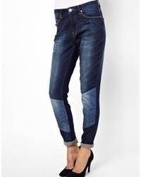 dunkelblaue Boyfriend Jeans von 2nd Day
