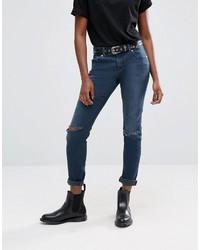 dunkelblaue Boyfriend Jeans von Asos