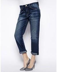 dunkelblaue Boyfriend Jeans von Current/Elliott