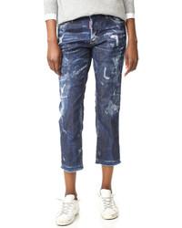 dunkelblaue Boyfriend Jeans von Dsquared2