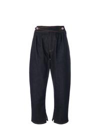 dunkelblaue Boyfriend Jeans von Fendi