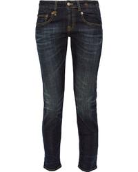 dunkelblaue Boyfriend Jeans von R 13