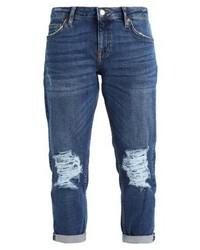 dunkelblaue Boyfriend Jeans von Topshop