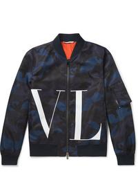 dunkelblaue Camouflage Bomberjacke von Valentino