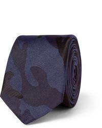 dunkelblaue Camouflage Krawatte von Valentino