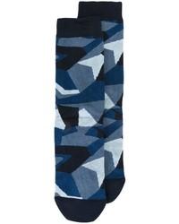 dunkelblaue Camouflage Socken von Diesel