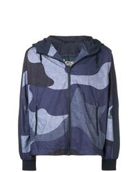 dunkelblaue Camouflage Windjacke von Herno