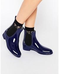 dunkelblaue Chelsea Boots von Glamorous