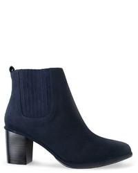 dunkelblaue Chelsea-Stiefel aus Wildleder von Opening Ceremony