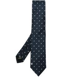 dunkelblaue Krawatte mit Chevron-Muster von Neil Barrett