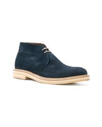 dunkelblaue Chukka-Stiefel aus Wildleder von Eleventy