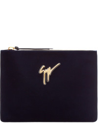 dunkelblaue Clutch Handtasche von Giuseppe Zanotti