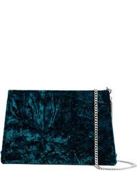 dunkelblaue Clutch von Maison Margiela