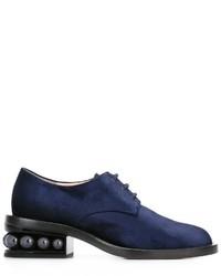 dunkelblaue Derby Schuhe von Nicholas Kirkwood