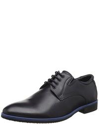 dunkelblaue Derby Schuhe von s.Oliver