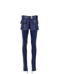 dunkelblaue enge Hose aus Leder von Andrea Bogosian