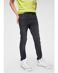 dunkelblaue enge Jeans mit Destroyed-Effekten von Arizona
